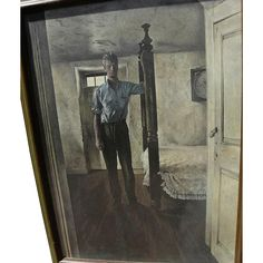 ANDREW WYETH (1917-2009) limited edition 1960's print 'Arthur Cleveland' with hand INK SIGNED label by the artist #rubylane #andrewwyeth