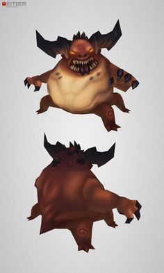 Low Poly Fat Demon Animating this one should be a bit of a...