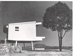 Single room studio-house 1950. Xalapa, Veracruz, Mexico    Architect Luis G. Rivadeneyra.