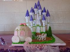princess castle and carriage