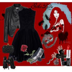 Gothic Lolita, created by dea-afrodite on Polyvore