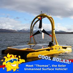 "Meet ""Thomas"", the Solar Unmanned Surface Vehicle (USV). Designed and built by Automated Surface Vehicles Ltd in Porchester, UK. Thomas is ideal for application where long-term remote data collection on a body of water is required. Thomas' propulsion system is powered by solar panels and by a wind turbine. VIDEO: https://youtu.be/TqJZUfbeIuU  IMAGE CREDIT: Autonomous Surface Vehicles Ltd  #ASV #autonomous #boat #robots #technology #solarenergy #solarpower #solar #solarpanels"