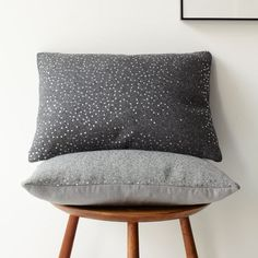 These pillows are a perfect way to add a hint of shine without going over board / Sequins Felt Pillow Cover