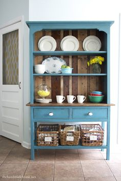 Anna White hutch- so beautiful, love the color and the wooden back