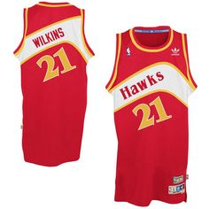 Mens Atlanta Hawks Dominique Wilkins adidas Red Hardwood Classics Swingman  Jersey fd1e2cc16