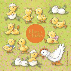 Eline's Digital ClipArt Set – Chicks