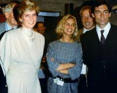 December 11, 1986: Princess Diana seen here with Maryam D'Abo and Timothy Dalton on the set of The Living Daylights at Pinewood Studios in London..The film premiere was June 29, 1987.