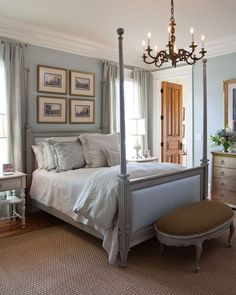 One of 10 Dreamy Southern Bedrooms- Love this color palette!7