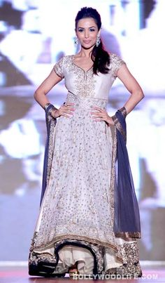 "Malaika Arora Khan walks for ""support the girl child"" initiative in a Manish Malhotra anarkali"