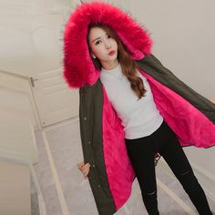 Find More Parkas Information about 2017 Korean Style New Camouf Winter Jacket Coat Women Parka With Natural Real Large Fur Collar Hooded Thick Warm Jacket Parkas,High Quality women parka,China jacket parka Suppliers, Cheap winter jacket coat women from Golden Life Store on Aliexpress.com