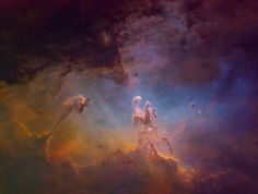 A Starless Eagle Nebula in Hubble Palette - Sky & Telescope Photographer: Morefield. Location: Sierra Remote Observatories, Date: 5.2017
