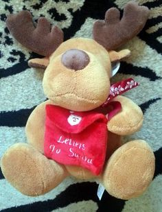 Moose by Fiesta Toys for Christmas Holiday. Great Stuffed Animal Toy.