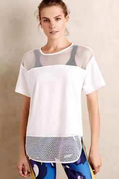 Adidas by Stella McCartney Cotton Mesh Tee - anthropologie.com
