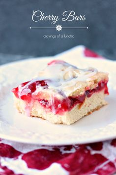 These Cherry Bars are incredibly easy to make and absolutely scrumptious. They're sure to be a hit with all your friends and family. #baking #dessert
