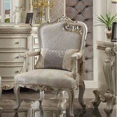 Shop a great selection of Curcio Armchair. Find new offer and Similar products for Curcio Armchair. Interior Modern, Interior Exterior, Interior Design, Classic Interior, Sofa Design, Upholstered Dining Chairs, Wingback Chair, Sillas Shabby Chic, Acme Furniture