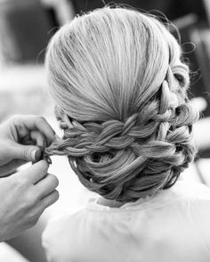 Elegant braided updo styled by Missy Craig using #jbeverlyhills products!