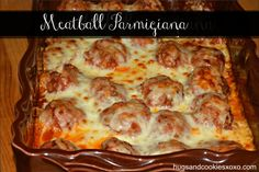 Baked Meatball Parmigiana. I would love some of this right now with a piece of garlic bread!
