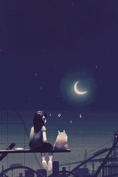 Hello new kitty! I saw another cat who was alone. Your name is Moonlight. I promise Cute Girl Hd Wallpaper, Cute Disney Wallpaper, Cute Cartoon Wallpapers, Cute Wallpaper Backgrounds, Pretty Wallpapers, Moonlight Photography, Nature Photography, Anime Triste, Girly Drawings