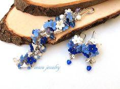Christmas+Jewelry+Christmas+Bracelet+Blue+Jewelry+от+insoujewelry