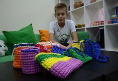 Вязаные корзинки и сумочки - автор Даниил, 14 лет