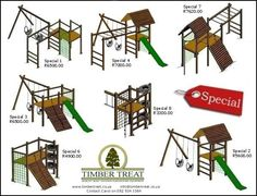 WOODEN JUNGLE GYMS SUPPLIED AND INSTALLED
