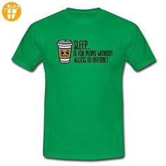 Schlafen Nur Ohne Internet Nerd Spruch Männer T-Shirt von Spreadshirt®, S, Kelly Green - Shirts mit spruch (*Partner-Link)