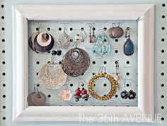 Peg Board and Accessories Station | The 36th AVENUE