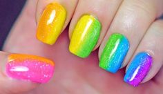 Spring nail designs must reflect the joy of a new beginning. Spring nail designs represent a cool trend which will enhance the beauty of every manicure. Rainbow Nail Art Designs, Nail Art Designs 2016, Nail Designs Pictures, Nail Designs Spring, Art Pictures, Ombre Nail Colors, Nail Color Trends, Cute Summer Nails, Cute Nails