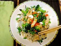 The Briny Lemon: Chicken and Broccoli Stir-Fry with Thai Coconut Sauce