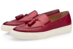 LEATHER SLIP-ON SNEAKERS WITH TASSELS