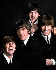 John Lennon, Paul McCartney, George Harrison and Ringo Starr pose in January 1964, just weeks before their historic first visit to America. (John Dominis—The LIFE Picture Collection/Getty Images) #LIFElegends #thebeatles