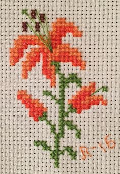 Small flower cross stitch