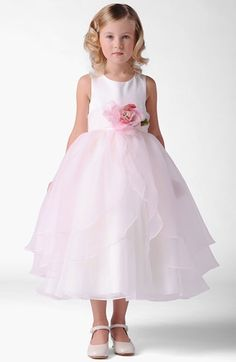 Free shipping and returns on Us Angels 'Petal' Dress (Toddler, Little Girls & Big Girls) at Nordstrom.com. A magnificent bloom centers a radiant, sleeveless gown with voluminous chiffon tiers wafting down the skirt.