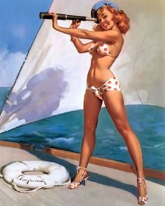 Pinup Girl by Gil Elvgren    http://www.boudoirlouisville.com draws inspiration from this fantastic artist.