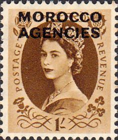 Morocco Agencies British Currency 1952 Queen Elizabeth II SG 110 Fine Mint SG 110 Scott 279 Other Moroccan Stamps HERE