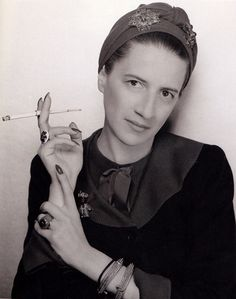 Diane Vreeland.  Many called her an ugly duckling.  I think she was beautiful.