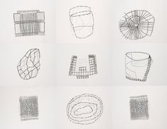 Susan Hefuna, Building, 2009. Ink on tracing paper, nine parts, 8 7/16 x 24 5/8…