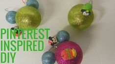 How to Make Mickey Mouse Ornaments - Pinterest Inspired Diy - YouTube Mickey Mouse Ornaments, Cute Mickey Mouse, Disney Theme, Disney Style, Star Wars Advent Calendar, Pinterest Diy, Opening Day, Diy Videos, Christmas Bulbs