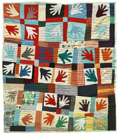"""philamuseum: Take inspiration from """"Represent: 200 Years of African American Art."""" Make art with us this Sunday during our Martin Luther King Jr Family Celebration.""""Hands"""" Quilt, Winter by Sarah Mary Taylor African American Artist, American Artists, American Quilt, Winter Quilts, Philadelphia Museum Of Art, Hand Quilting, Quilting Ideas, Applique Quilts, Black History Month"""