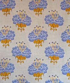 Katie Ridder Peony fabric in hydrangea
