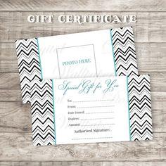 Confetti Gift Certificate DownloadPremade by DigitalDesignPaper