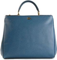 Dolce & Gabbana Blue Sicily Business Tote