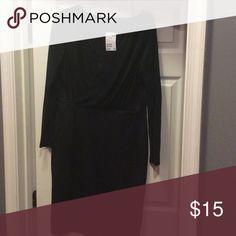 Black Mesh Sleeved Dress Mesh Sleeve V-neck Black dress H&M Dresses