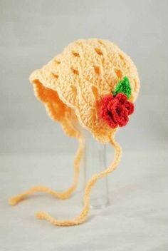 Vintage Baby Bonnet Scalloped Baby Bonnet Bonnet by AdorablyHooked