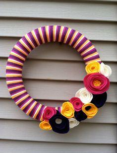 Yarn & Felt Wreath!
