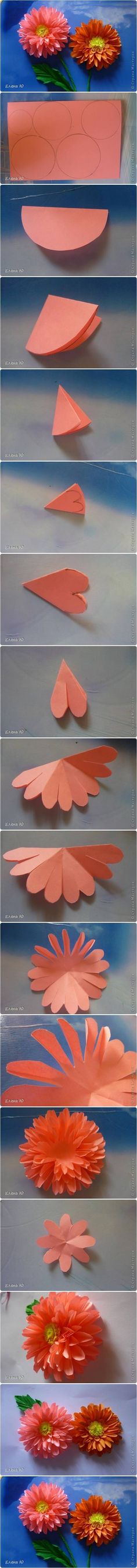 How to Make Paper Dahlias (Diy Paper Flowers) Handmade Flowers, Diy Flowers, Fabric Flowers, Flower Diy, Dahlia Flowers, Diy Paper, Paper Art, Paper Crafts, Hobbies And Crafts