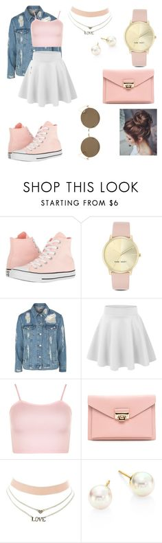 """""""Pink🌸💗🎀"""" by megan-simard on Polyvore featuring mode, Converse, Nine West, Topshop, WearAll, Charlotte Russe et Majorica"""