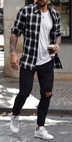 Stylish Mens Outfits, Casual Summer Outfits, Hipster Outfits Men, Spring Outfits For Men, Casual Outfits For Guys, Simple Outfits, Casual Attire, Outfit Summer, Outfit Ideas For Guys