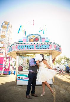 Yes to this sweet-as-cotton-candy engagement shoot // A. Blake Photography