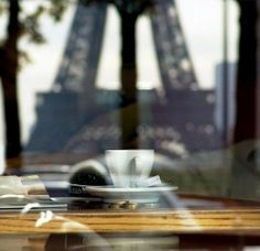 read a book and drink coffee in Paris with the view of the Eiffel tower in sight! been to paris, but this would be a great thing to do when i go back! i'd feel so classy! Coffee In Paris, I Love Coffee, Coffee Break, Morning Coffee, French Coffee, Sunday Morning, Oh Paris, I Love Paris, Paris City